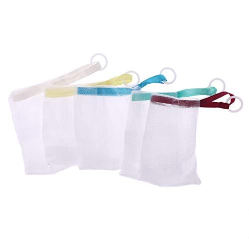 Junlinto Soap Foaming Net Saver Tasche Suds Bubbles Maker Hautpflege Bad Easy Bubble Mesh (Net Soap-tasche)