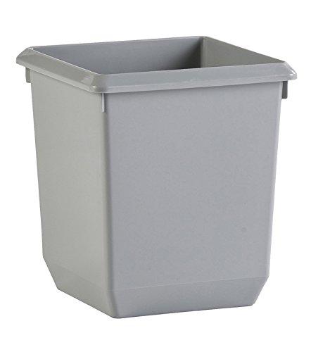 Viereckiger kegelförmiger Papierkorb 21 Liter grau (31045457)