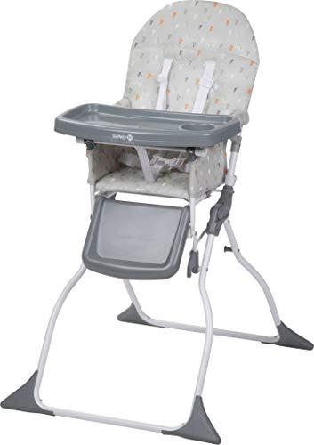 Safety 1st Chaise Haute Pour Bebe Keeny Compacte Et Pliable Nettoyage Facile Warm Grey