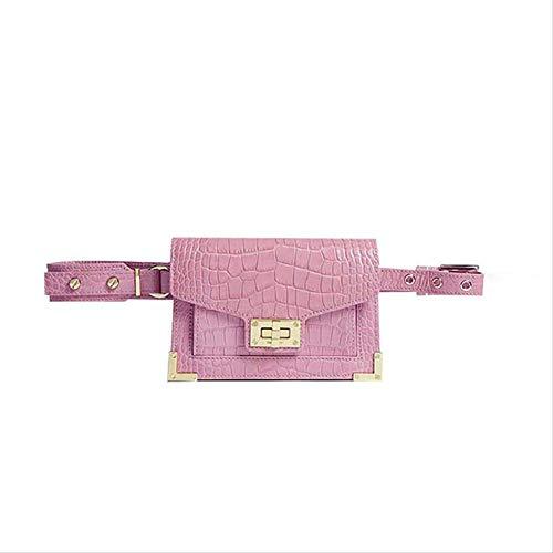 Xshiyq Damen gürteltasche krokodil gürtel Handtasche pu Leder Vintage Strap Kette Taschen für eine größe rosa -