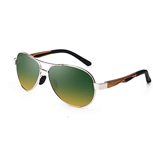 Yuany Polarisierte Sonnenbrille Pilot Anti-Glare Farbverlauf metallic Sonnenbrille Flight Driver großen Rahmen polarisierte Brille männer