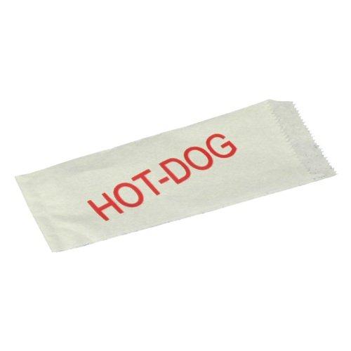 100 Stück Hot Dog - Tüten (Weiß mit Aufschrift / 21 x 8,5 cm)