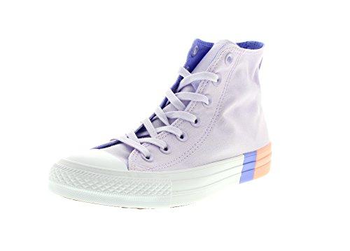 Converse Unisex-Kinder Chuck Taylor CTAS Hi Canvas Fitnessschuhe, Pink (Barely Grape/Twilight Pulse 551), 37 EU (Pastell Converse Schuhe)