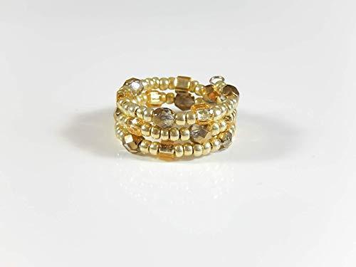 Goldfarbener Spiralring Ring Fingerring Geschenk Geburtstag