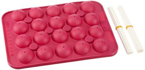Birkmann 250550 CakePop Baker Backform, Silikon, pink, 27 - Silikon Molds Moulds
