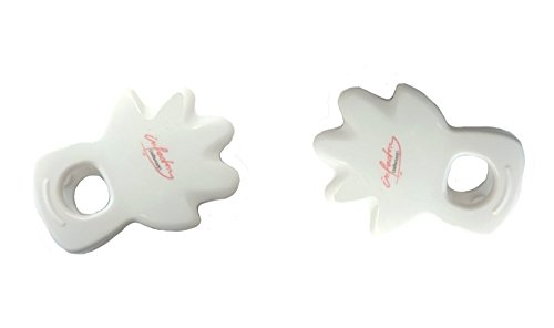 Formschöne Duschvorhangclips Clip Duschvorhang Duschvorhangklammern 2 Stück thumbnail
