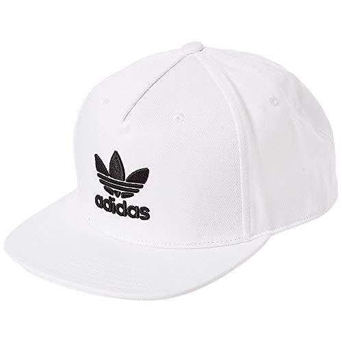 adidas Herren Trefoil Flat Cap, White/Black, OSFM