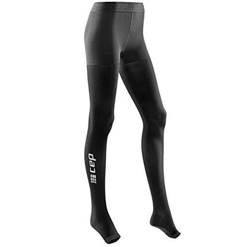 Womens Pro Strumpfhose (CEP Women's Recovery+ Pro Tights, Size 2, Black)