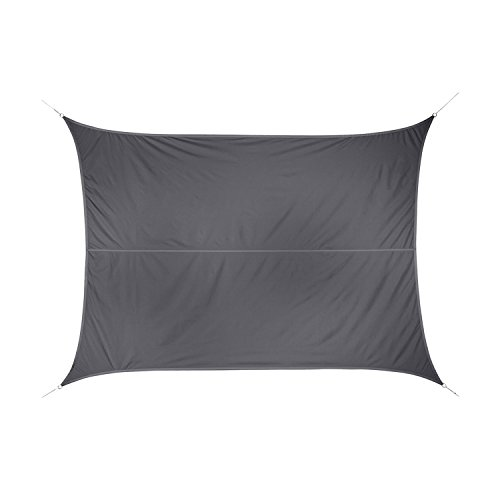 Voile d'ombrage Rectangulaire Curacao 4 x 3 Gris