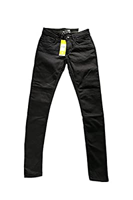 Adidas Neo Womens Denim Black Super Skinny Jeans W26 L30