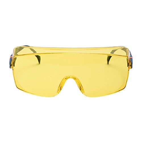 3M Überbrille 2802, Schutzbrille AS, UV, PC, gelb getönt