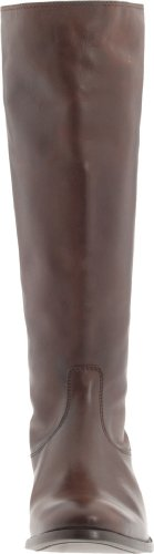Frye Mellissa Button Back Zip, Stivali alti donna Dark Brown Smooth Vintage Leather-76431