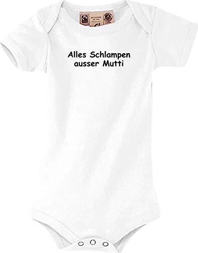 Shirtstown Baby Body, Alles Schlampen ausser Mutti, kult, weiss, 12-18 Monate -