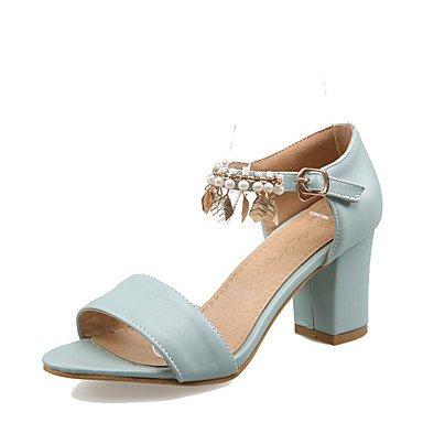 LvYuan Da donna-Sandali-Formale Casual Serata e festa-D'Orsay-Quadrato-Finta pelle-Blu Rosa Beige beige