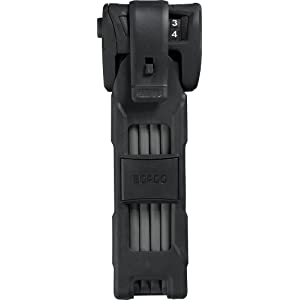 Abus Bordo Combo 6100/90 - Candado plegable, color negro, talla 90 cm