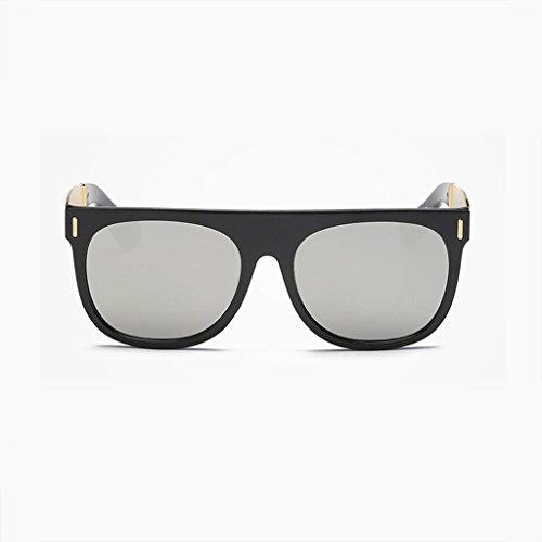 MWPO Polarisierte Sonnenbrille New ma 'am Big Frame Retro Mode einkaufstourismus Outdoor blendfreies licht Komfort langlebige Brille (Farbe: Silber)