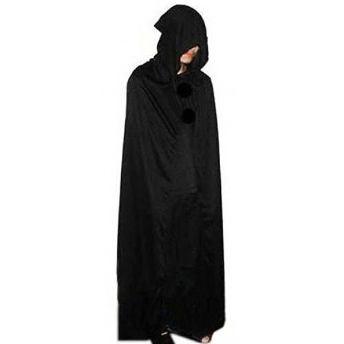 Umhang Kap mit Kapuze Halloween Karneval grimmig Reaper halloween kostüm (Kostüme Bilder Von Mädchen Vampir)