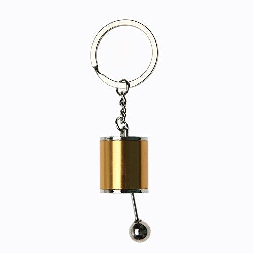 YouN créatif Auto Modèle de pièce Boîte de vitesses Shifter Keychain Porte-clés Bague (Or)