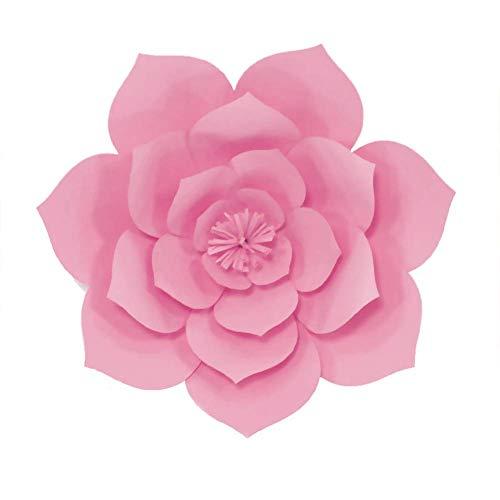 paletur88 Dekorativ Blumen 30cm Festival Bastelarbeiten Handwerk Hochzeit Künstlich Urlaub Wunderschön Geschenk Zuhause Party Zubehör Papier Wand Getrocknet Rose (Gelb) - Rosa, Free Size