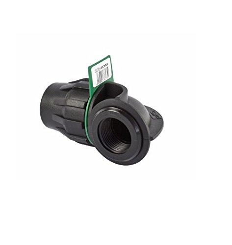 SYR Brico Fitting – Coude 90 ° Filetage femelle 20 x 8 x 9 cm, couleur noir