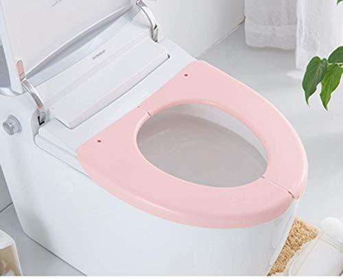 Dada Toilettensitz-Abdeckung, Kunststoff, faltbar, Toilettensitz-Deckel für Reisen Rose