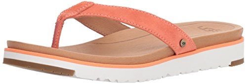 UGG Women's Lorrie Flat Sandal, Fusion Coral, 8.5 M US Ugg Womens Flat