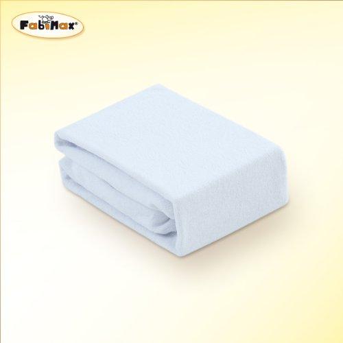 Doppelpack FabiMax 3532 Frottee Spannbettlaken für Beistellbett und Wiege, 90 x 55 cm, weiß