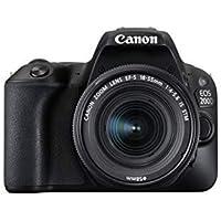 Canon EOS 200D - Fotocamera Digitale Reflex + Obiettivo EF-S 18-55mm f/4-5.6 IS STM - Nero