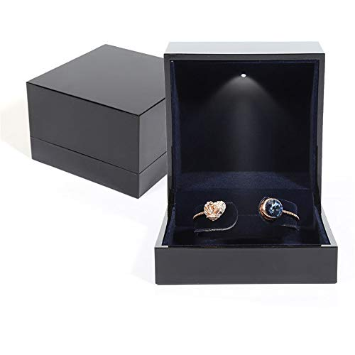 Preisvergleich Produktbild Verlobungsring Box Ohrringe Münze Schmuck Ring Box Fall mit LED beleuchtet für Vorschlag Engagement Hochzeitsgeschenk (Design : Bracelet Jewelry Box,  Größe : Free)