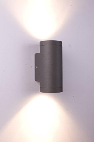 GU10 Außen Wandleuchte – Aluminium Anthrazit Doppelflutig für LED oder Halogen Leuchtmittel Up & Down light