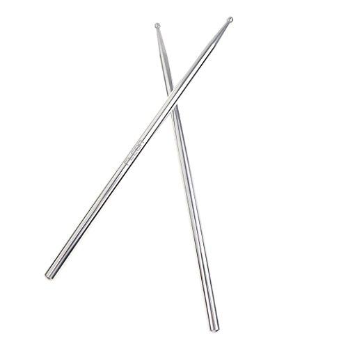 MagiDeal 1 paar Musik Band Metall Silber Drumsticks 5A schlagzeug,Drum Set Zubehör