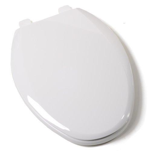 Comfort Seats C1B3E7S00 EZ Close Standard Plastic Toilet Seat, Elongated, White by Comfort Seats
