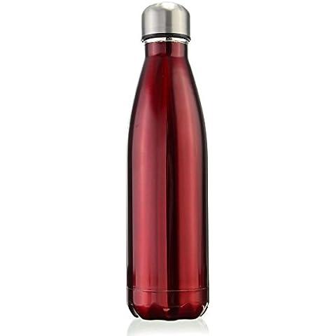 OUTERDO Doppia Parete Isolati Sotto Vuoto in Acciaio Inox Bottiglia di Acqua 500ml