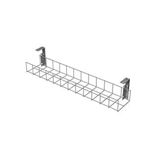 AMP Wire Under Desk Cable Tidy Basket - 410mm Long - Silver