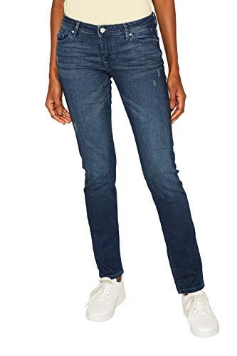 edc by ESPRIT Damen 999Cc1B807 Slim Jeans, Blau (Blue Dark Wash 901), W28/L30 (Herstellergröße: 28/30)