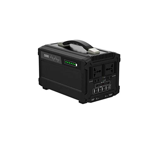 DMQNA Tragbarer Solar-Wechselrichter, Nennleistung 500 W, Solarbatterie Solarstromgenerator 12 V DC USB-Ausgang, Lithium-Polymer-Autobatterie