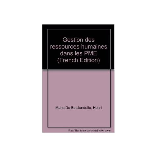Gestion des ressources humaines dans les PME de Henri Mahe De Boislandelle ( 1998 )