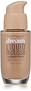 Maybelline New York Dream Liquid Mousse Foundation, Classic Ivory Light 2, 1 Fluid Ounce