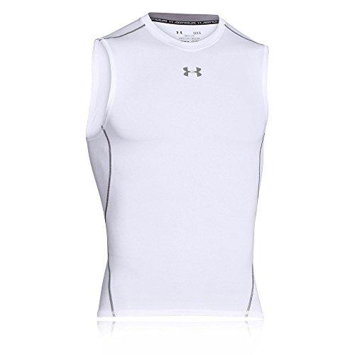 Under Armour Herren Hg Armour SL Fitness-T-Shirts & Tanks, White, S
