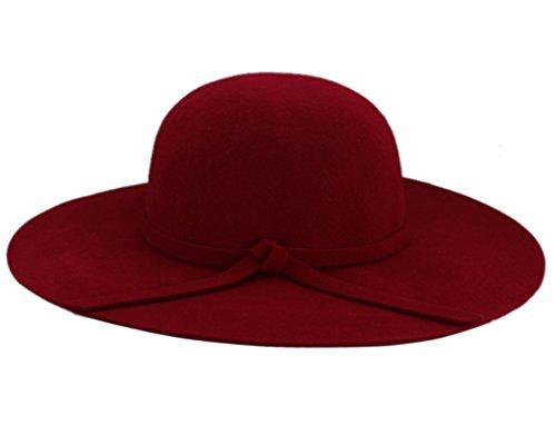 amen Wolle Felt Wide Brim Floppy Mütze Hut Cap (Großhandel Fedoras)