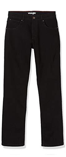 Wrangler Authentic Jeans Straight fit, Noir (Black Rinse 107), 35W/30L Homm