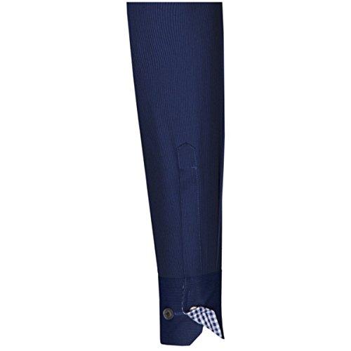 Seidensticker classica a manica lunga, da uomo, stile formale, colore: blu Blu