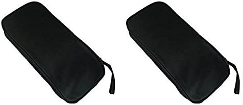 Tfpro Single Layered Multimeter Tool Carrying Zipper Bag Pouch Case ( Black - Pack Of 2 Pcs ) (Pack of 2)(Black)