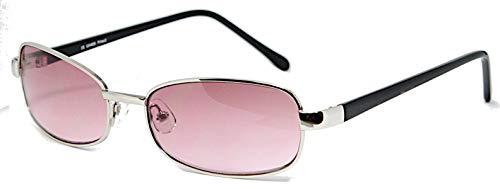 Freestyle Sonnenbrille 400UV Markenbrille Oval Schmal Rosa Blau Getönt Steg Lang Rosa
