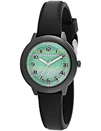 Watch Me Green Black Leather Kid's Watch WMK-002