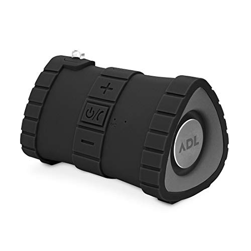 ADL Music A1 Submarine Waterproof Bluetooth Speaker with Passive Subwoofer/AUX Support/15 Hrs of Playback Time(Black)