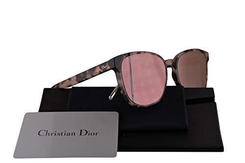 Dior Christian DiorStep Sonnenbrille Havana Rose Mit Grauen Golden Verspiegelten Gläsern 55mm 3Y6R2 DiorSteps DiorStep/s