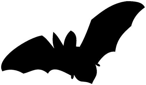 Samunshi® Wandtattoo Fledermaus Motiv 1 in 8 Größen und 25 Farben (20x11,6cm schwarz)