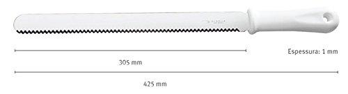 COMMERCIAL BAKERY BREAD KNIFE - SERRATED STEEL BLADE - 42.5 cm - Di SOLLE,(85) Brazil