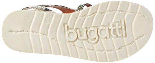 Bugatti J93856r, Sandales Compensées Femme Beige (Beige / Pink 265)